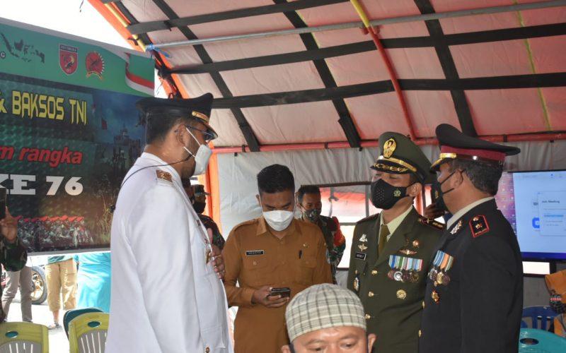 HUT TNI ke 76 dukung program vaksinasi